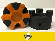 L100 X Pick Your Bores 3pc Jaw Coupling With Urethane Spider See Chart Below