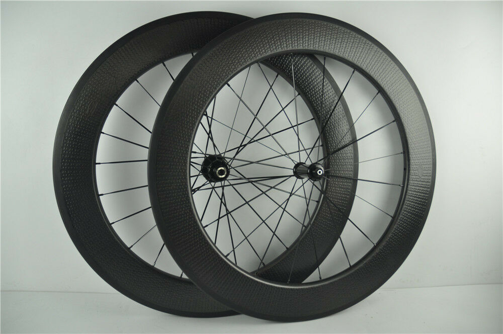 Dimple finish 25mm width 80mm tubular carbon bicycle wheels,bike racing wheels