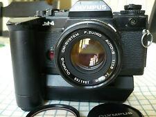 OLYMPUS OM-4 35mm Film Camera w/Olympus 1:1.8 f=50mm Lens + Power Winder