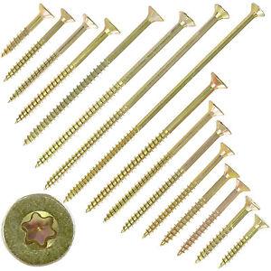 Spanplattenschrauben-4-mm-Torx-Antrieb-Teilgewinde-gelb-verzinkt-Fraesrippen
