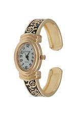 Urban Rose chapado en oro señoras Brazalete Pulsera Reloj Antiguo De Estilo Vintage