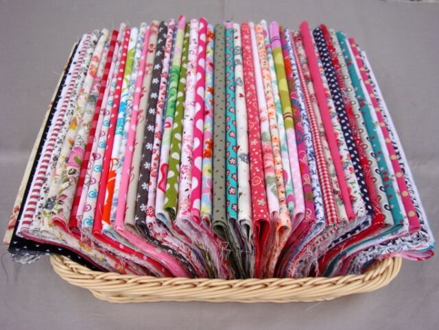 25/50/100pcs assorted pre-cut mixed series 100% cotton Quilt fabric DIY