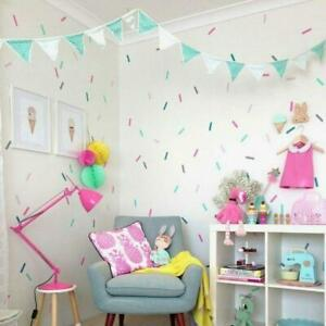 Coloured-Sprinkle-Shape-Wall-Stickers-Children-039-s-Bedroom-Nursery-Sprinkles-Decal