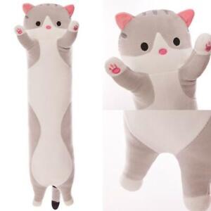 Plush Long Cat Doll Soft Stuffed Kitten Pillow Sofa Pillow Home ids Q0A4