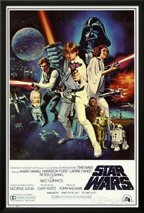 Star Wars - Episode IV New Hope - Classic Movie Poster... Lamina Framed Poster