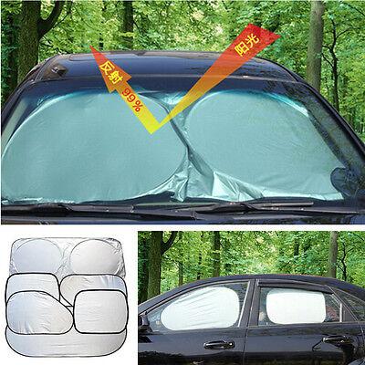 6PCS Front Rear Side Windscreen Car Sunvisor Folding Sunshade UV Block