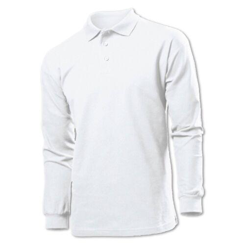 Stedman Long Sleeve Polo Shirt Herren Langarm 100/% Baumwolle TShirt S M L XL XXL