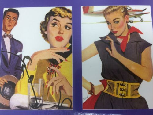 Note Card pack Leading Ladies Coby Whitmore set x8 greeting notelet Retro Art
