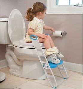 Kid Stair Folding Step Up Ladder Padded Toilet Potty