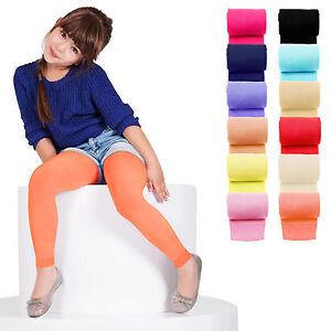 KIDS-FASHION-Girls-Soft-Microfiber-FOOTLESS-Tights-40-Denier-Colours-Years-6-13