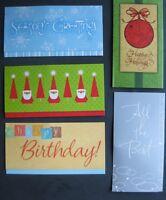 6ct Christmas Money Holders Gift Card-+2 Free Bonus Holders-3 Diff. Xmas Designs