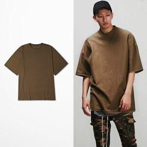 Men-Loose-Shirt-Half-Sleeve-Tee-Sweatshirt-Hip-Hop-Cotton-Tops-Plus-Size-Casual
