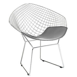 Wonderful Image Is Loading Diamond Shaped Chair Wire Mesh Chair Mid Century