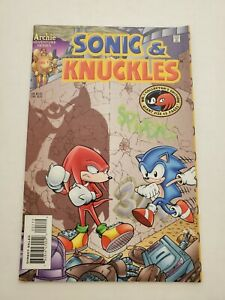 Sonic & Knuckles 1 2nd Print Rare Archie Adventure