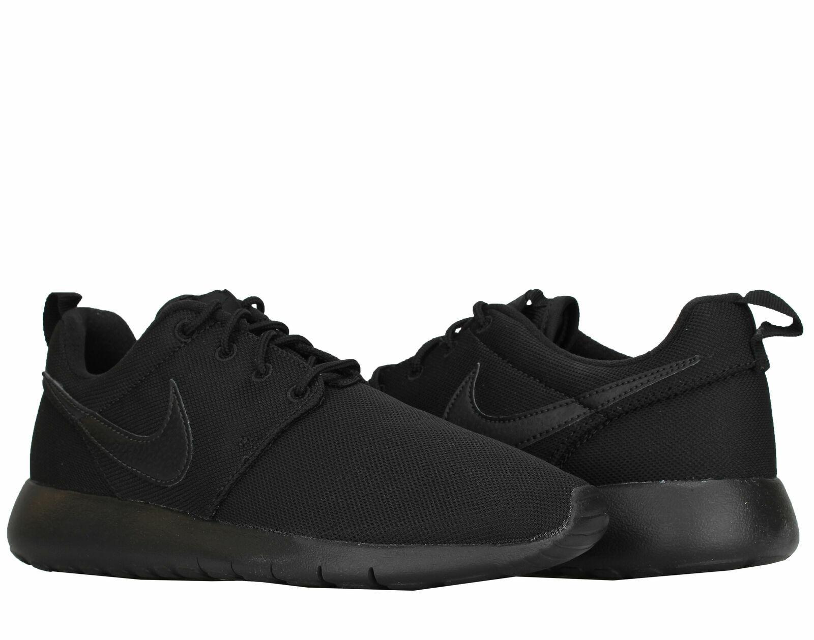 New Nike Huarache Run Print GS Kids Running Shoes 704943-002 Black White Youth