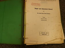 Deutz F/AL514 & F/AL614 Diesel Engine Shop Service Repair Adjustment Manual