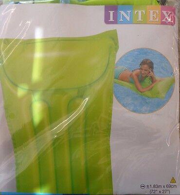 Neu Ein Bereicherung Und Ein NäHrstoff FüR Die Leber Und Die Niere Pool Gut Aufblasbare Luftmatratze Grün Intex 1,83 X 0,69 M