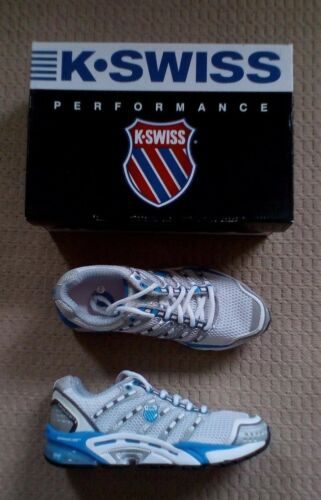 donnas New In amp; Box 5 4 K Training swiss Shoes Size White Blue Performance Brand 4En1qg