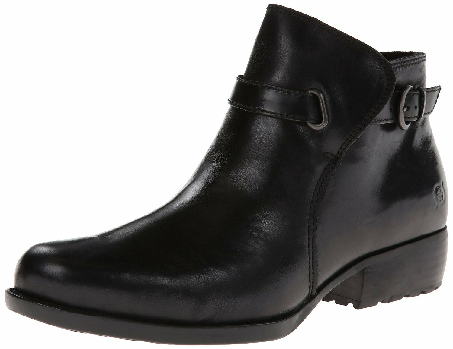 Womens Born Ankle ZipOn Boot Jem Black Leather D38603