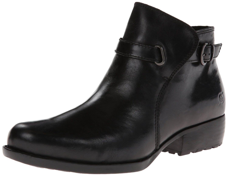 buona qualità donna Born Ankle ZipOn ZipOn ZipOn avvio Jem nero Leather D38603  contatore genuino