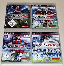 4 PLAYSTATION 3 SPIELE SET - PRO EVOLUTION SOCCER 2009 2010 2011 2012 PES PS3