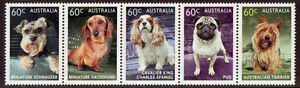 AUSTRALIA-2013-DOGS-STRIP-OF-5-UNMOUNTED-MINT-MNH