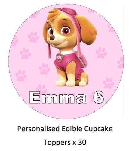 Paw Patrol Skye Personalised Cupcake Toppers Edible Paper BUY 2 GET 3RD FREE!