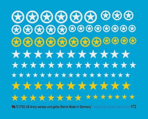 Peddinghaus 1//72 0782 US Army Tags White and Yellow Stars