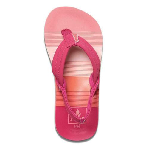 Reef Girls Little Ahi Sandals Pink Stripes Reef Girls/' Shoes