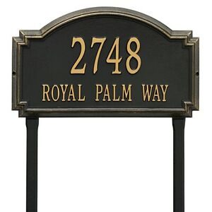 20-5-X-12-Williamsburg-Raised-Plaque-Address-House-Numbers-Custom-sign-Lawn-Yard