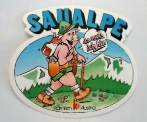 Souvenir-Aufkleber Saualpe Lavanttal Ladinger Pointy Carinthia Austria 80er