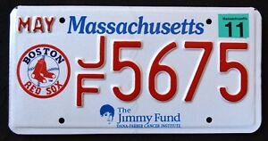 MASSACHUSETTS-034-BOSTON-RED-SOX-BASEBALL-034-MA-Specialty-Sport-License-Plate