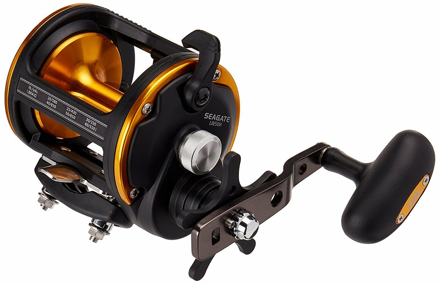 Daiwa Seagate Levelwind 6.1 1 Right Hand Saltwater Fishing Reel 50H - SGTLW50H