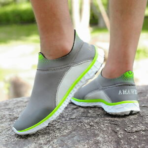 81446f6beb New Men's Quick Drying Aqua Water Shoes Athletic Lightweight Walking ...