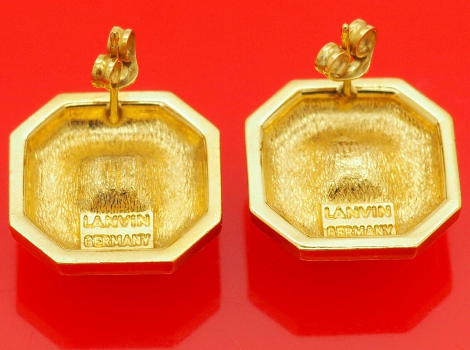 Vintage Lanvin Germany Octagonal Gold Plate w/ He… - image 5