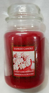 Yankee-Candle-CANDY-CANE-MERINGUE-Large-Jar-22-Oz-Red-Housewarmer-New-Wax