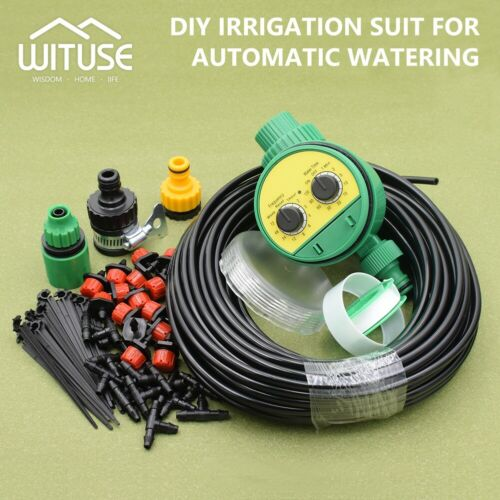 automatic water irrigation kit micro drip watering system plant garden tool 2C1