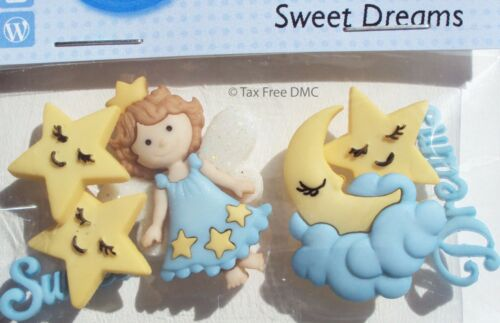 VAT Free Dress It Up Sweet Dreams 5 x Buttons Crafting Sewing Knitting New 8296