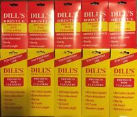 Dill's Premium Pipe Cleaners & Bristle Absorbent Sturdy 6 10 Packs Of 32 Dills