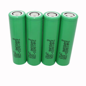 4pcs-18650-2500mAh-25R-3-7V-Li-ion-INR-Battery-Rechargeable-High-Drain-for-Vape