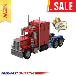 New-MOC-24330-379-Peterbilt-Truck-Camion-TECHNIC-Model-Building-Blocks-Bricks