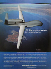 9/2004 PUB NORTHROP GRUMMAN UAV DRONE GLOBAL HAWK NAVY BAMS ORIGINAL AD