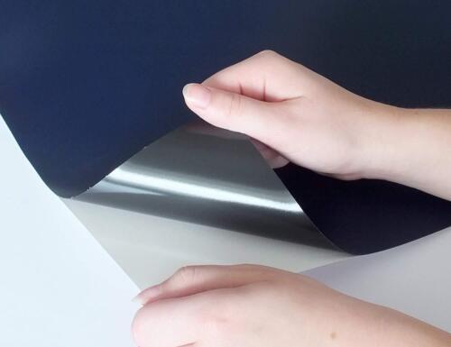 Selbstklebende und magnetische Tafelfolie in verschiedenen GrößenBlau