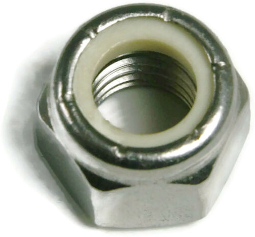 Stainless Steel Nylon Insert Lock Hex Nut UNC 5//16-18 Qty 50