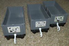 3 TROUBLESOME TRUCKS GREY Tomy Trackmaster Thomas the Tank Engine train wagons