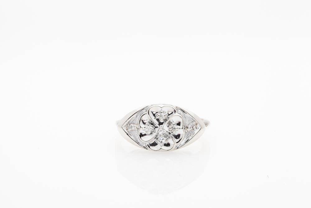 Antique 1920s .40ct VS G Diamond 18k gold Platinum Filigree Ring