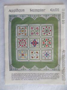 Applique-Sampler-Quilt-Patterns-10-Styles-Jose-Royer-1979-Leman-Publications