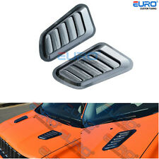 Carbon Texture Hood Engine Inlet Vents Louvers Cover fit for 15-17 Jeep Renegade