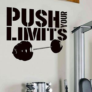 Image Is Loading PUSH YOUR LIMITS Gym Workout Fitness Wall Art