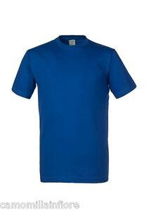the latest fd189 e7502 Dettagli su Maglia maglie uomo BLU ROYAL STOCK 5 pz. t-shirt manica corta  girocollo Cotone